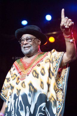 George Clinton performing at the Kiss 104.1 Flashback Festival