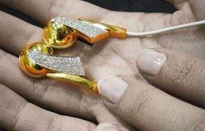 Gold & Diamond Earphones from Casa Gi