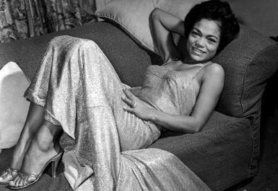 Eartha Kitt reclining