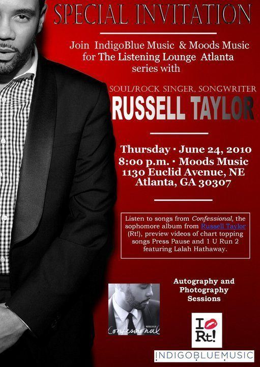 Come meet Russell Taylor Tonight at Moods Music