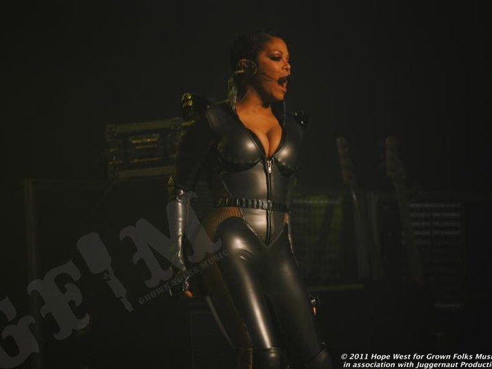 Janet Jackson performing on