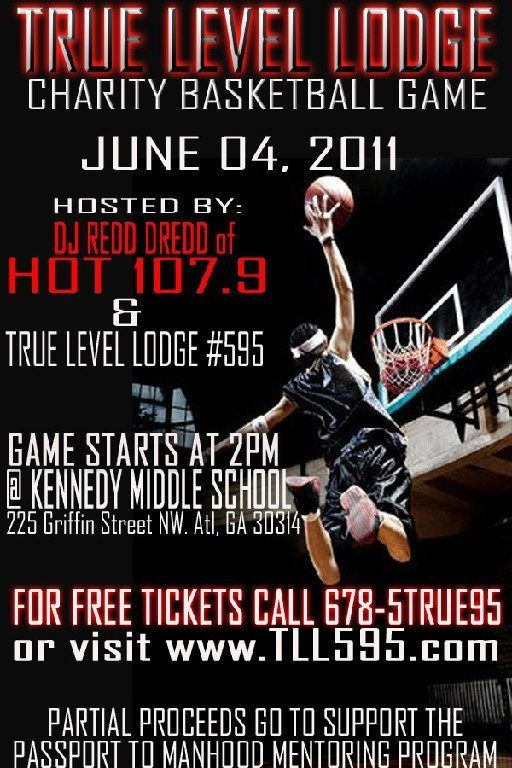 True Level Lodge's Charity Basketball Game – June 4th!!!