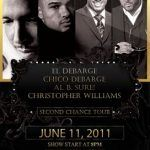 [Concert Review] Second Chance Tour: El DeBarge with Al B. Sure!, Christopher Williams and Chico DeBarge