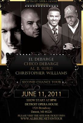 Second Chance Tour - El DeBarge, Chico Debarge, Al B. Sure & Christopher Williams