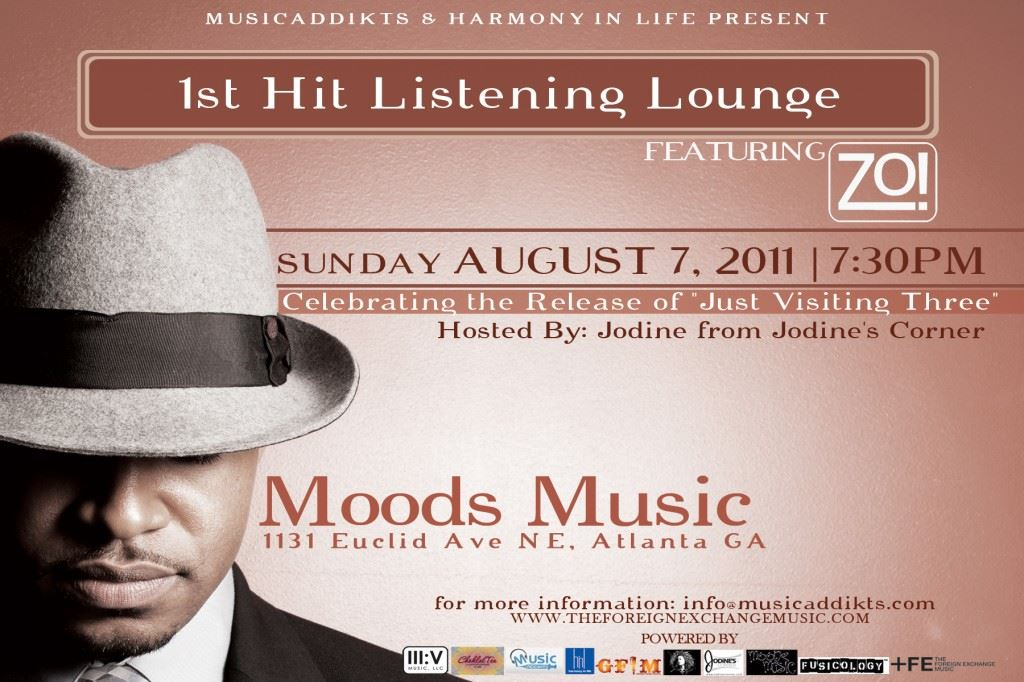 1st Hit Listening Lounge Featuring Zo!