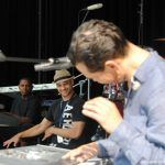 El DeBarge with Chico DeBarge during soundcheck