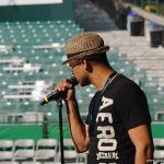 Chico DeBarge during sound check