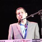 El DeBarge playing onstage