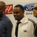 Taiye Samual, Carl Thomas and Chico DeBarge in press room