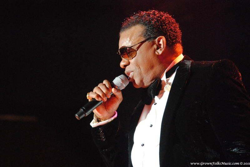 Ron Isley performing on The Reunion Tour at Chastain Park Amphitheatre