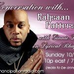 A Conversation with Rahsaan Patterson with Ginnie Love on Lyrical Rhapsody 10-30-2011 @10pm