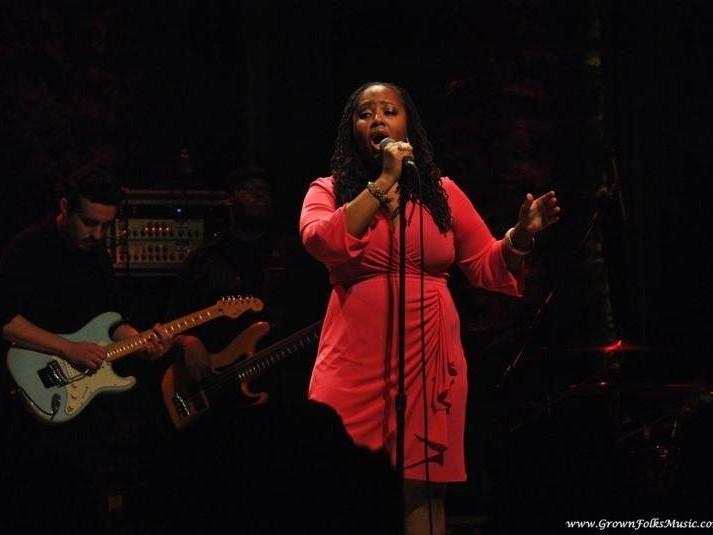 Lalah Hathaway performing live in Atlanta