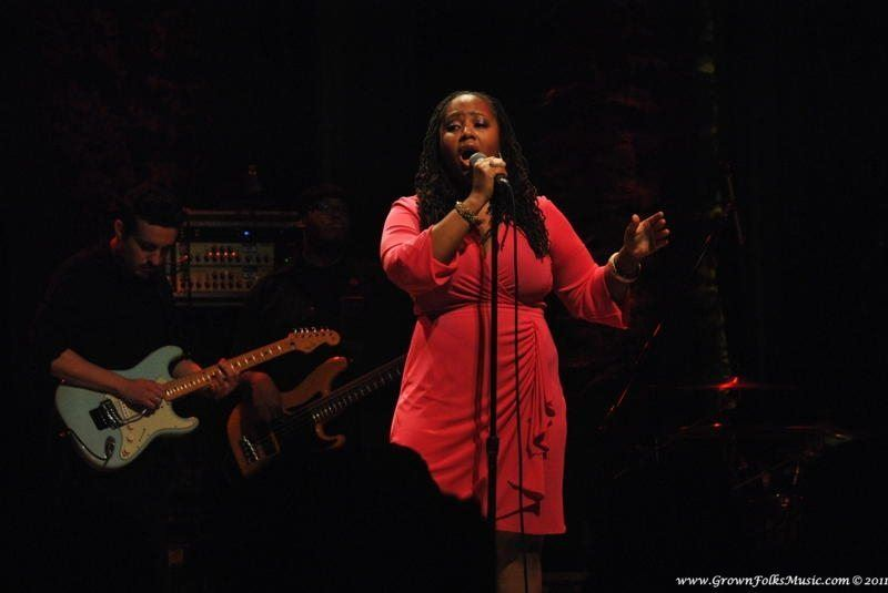 Lalah Hathaway performing live in Atlanta