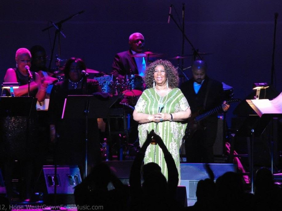 Aretha Franklin performing live in Atlanta