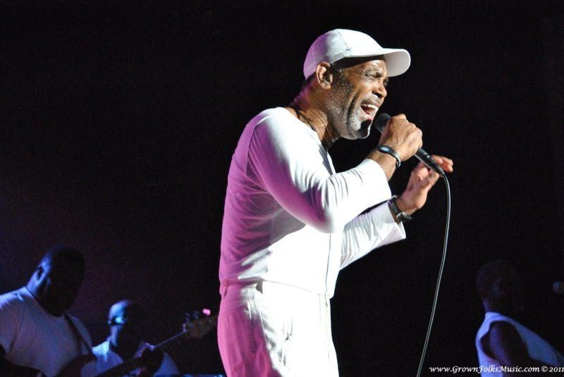 Frankie Beverly performing live in Atlanta