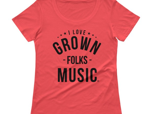 I love GFM Ladies Scoopneck - Coral