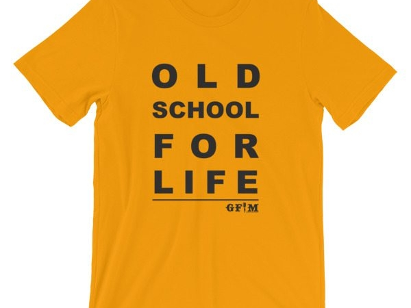 old school for life - yellow