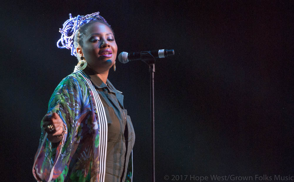 Lalah Hathaway performing onstage at The Fox Theatre (Sept. 16th, 2017 )