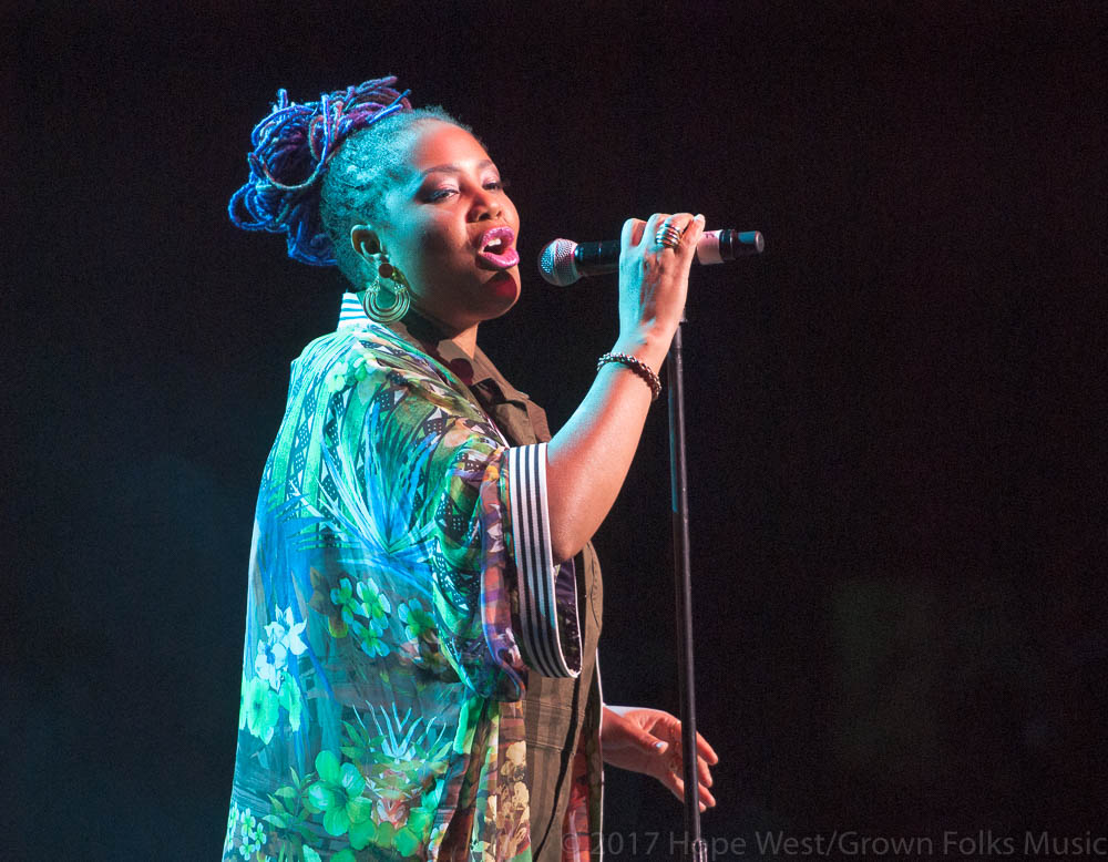 Lalah Hathaway performing onstage at The Fox Theatre