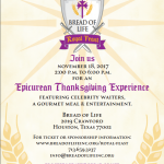 The Bread Of Life Epicurean Thanksgiving Royal Feast in Houston (November 18th)