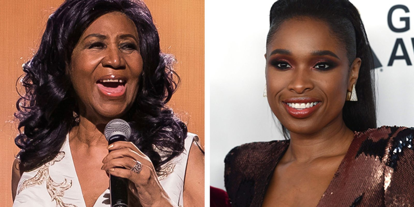 Aretha Franklin and Jennifer Hudson