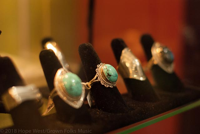 Decorative rings at Moods Music