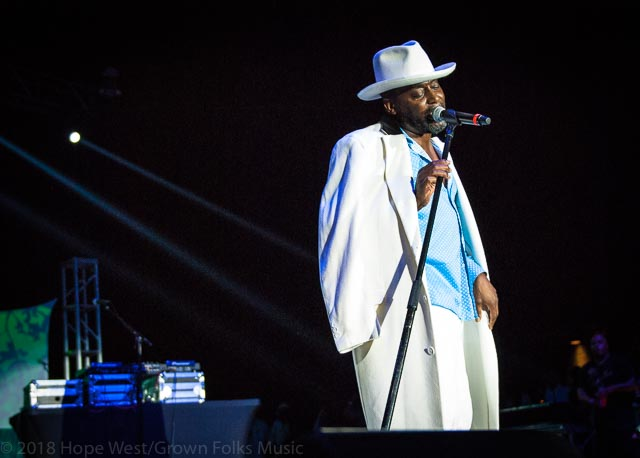Big Daddy Kane pimping it out at the Old School Hip Hop Fest
