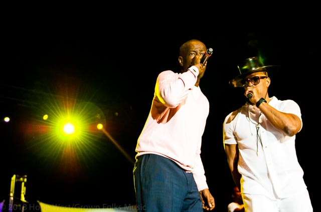 Whodini performing at the Old School Hip Hop Fest
