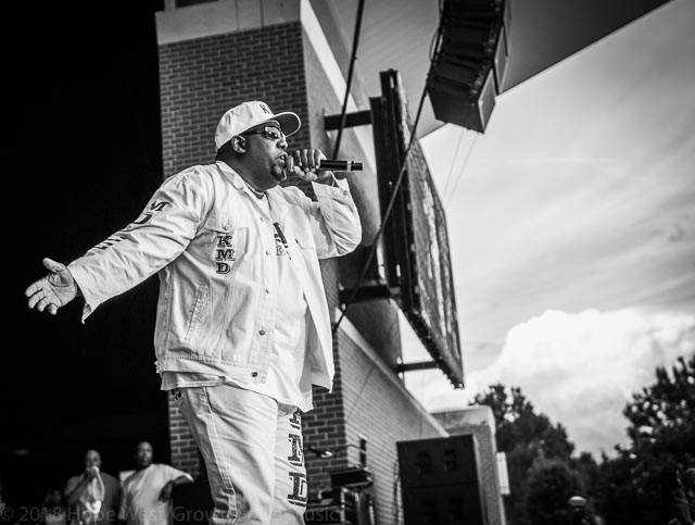 Kool Moe Dee performing at the Old School Hip Hop Fest