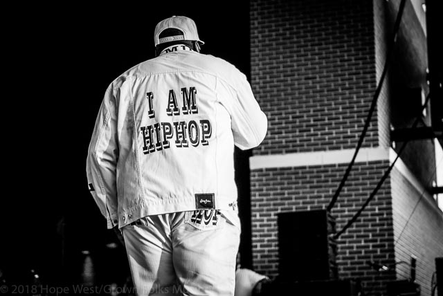 Kool Moe Dee representing Hip Hop at the Old School Hip Hop Fest