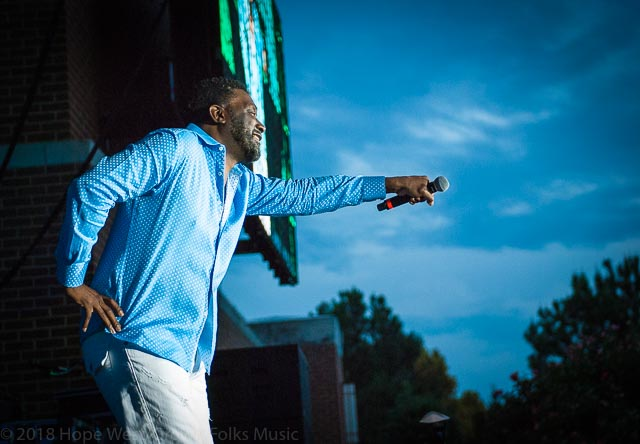 Big Daddy Kane performing at the Old School Hip Hop Fest