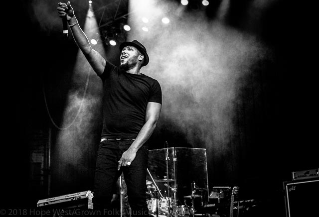 Lyfe Jennings performing in Atlanta at the Mable House Barnes Amphitheater.