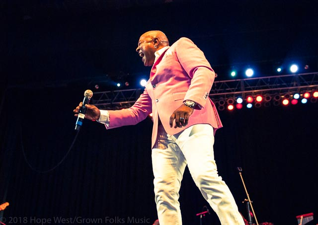 Peabo Bryson performing in Atlanta at the Mable House Barnes Amphitheater