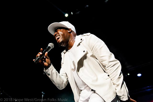 Blackstreet member, J Stylez performing on stage at the State Farm Arena for the