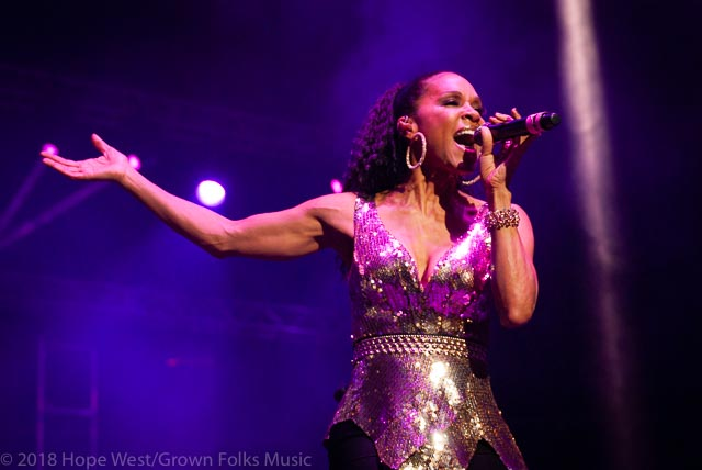 Cindy Herron of En Vogue performing on stage at the State Farm Arena for the