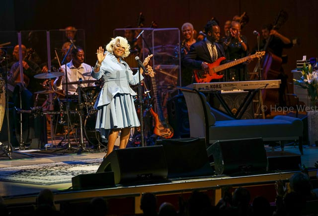 Pattie LaBelle performing with her band and the Atlanta Symphony Orchestra at Jazz 91.9 45th Anniversary Benefit Concert