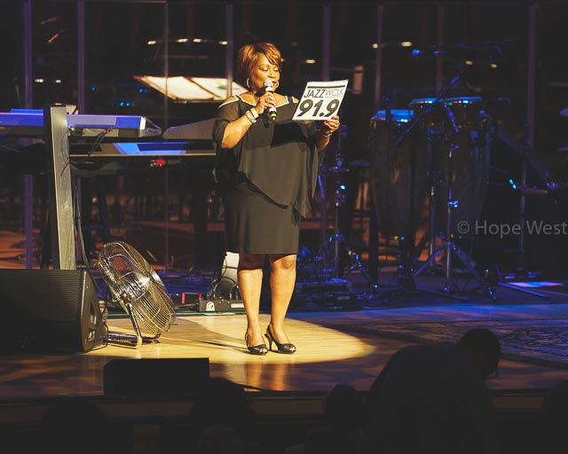 General Manager of WCLK, Wendy Williams at Jazz 91.9 45th Anniversary Benefit Concert