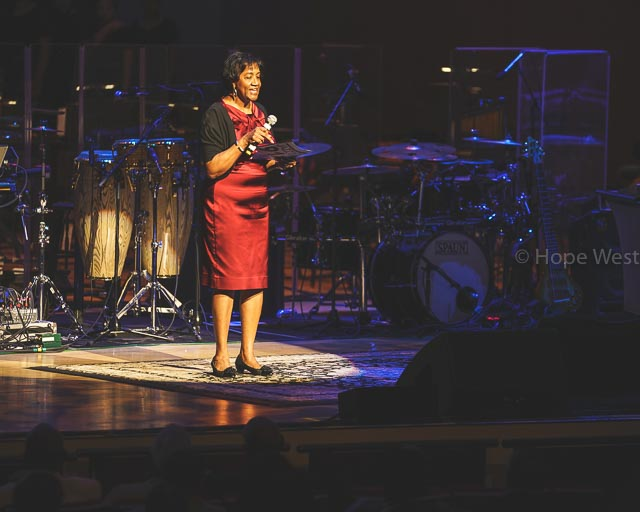 Chief Operating Officer and Interim President of Clark Atlanta University, Lucille Mauge at Jazz 91.9 45th Anniversary Benefit Concert