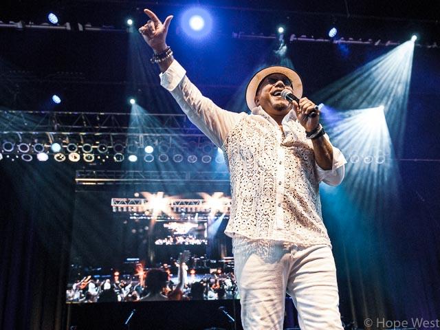 Howard Hewett performing onstage in Atlanta