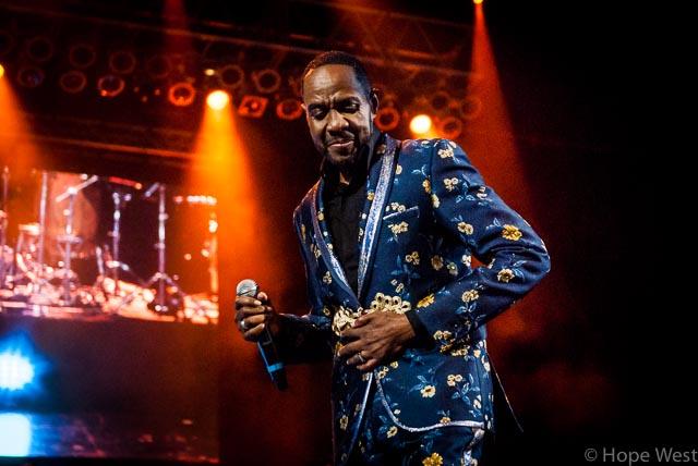 Freddie Jackson performing onstage in Atlanta