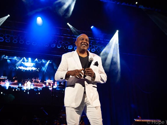 Peabo Bryson performing onstage in Atlanta