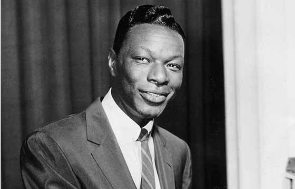 Black and white photo of Nat King Cole