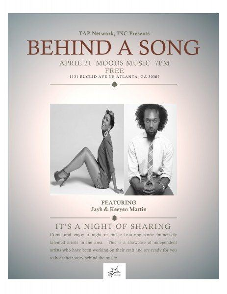Behind a Song Poster