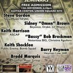 Business of Music Seminars Launching @Guitar Center feat. Bradd Marquis, Keith Shocklee, Keith Harrison and more…