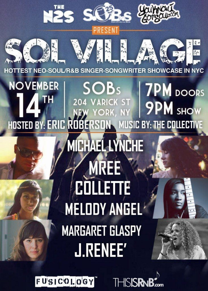 SOBs Sol Village Showcase November 14th with Featuring Soul Artist, Collette and Many More!