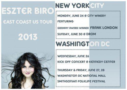 Eszter Biro & Parno Graszt Tonight 6/30/2013 @DROM NYC, 7:30pm