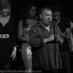 "Jean Paul ""Bluey"" Maunick of Incognito talking to the audience during their Atlanta show."