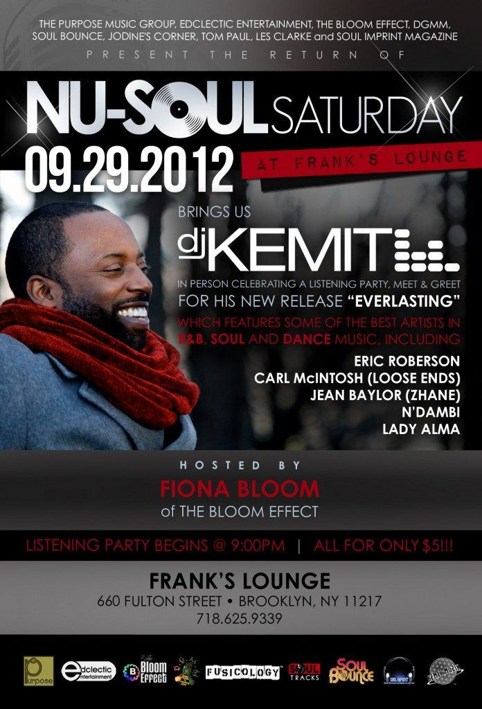 "DJ Kemit ""Everlasting"" Listening Party Sept 29 at Frank's Lounge, Brooklyn, NY"