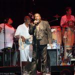 Eddie LeVert of The O'Jays performing onstage at Chastain Park