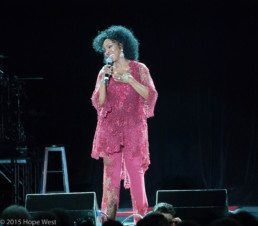 Gladys Knight onstage at Chastain Park